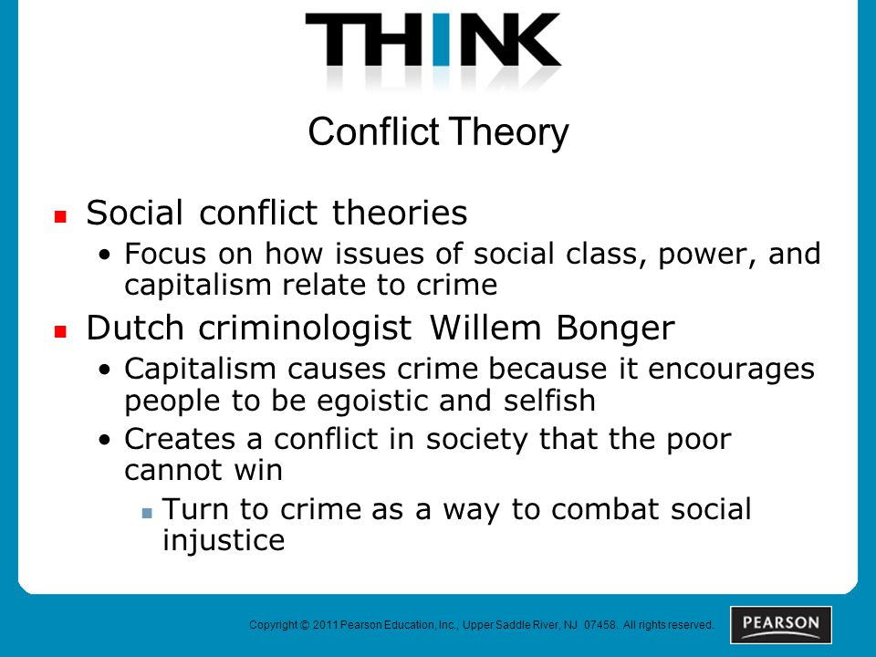 Conflict Theory Social conflict theories