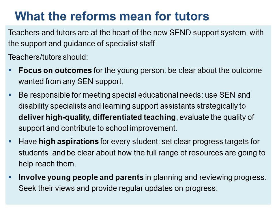 What the reforms mean for tutors