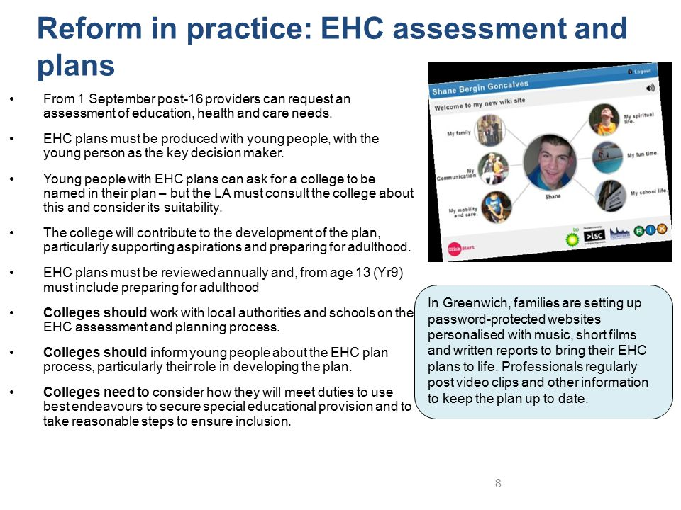 Reform in practice: EHC assessment and plans