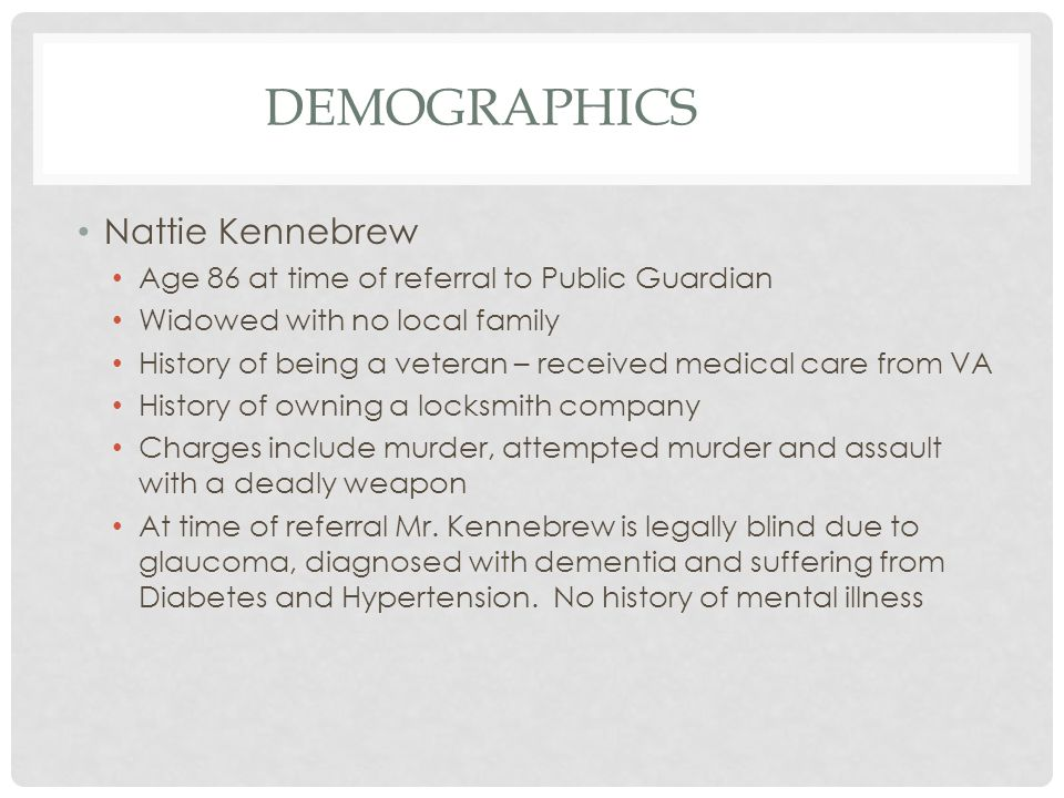 Demographics Nattie Kennebrew