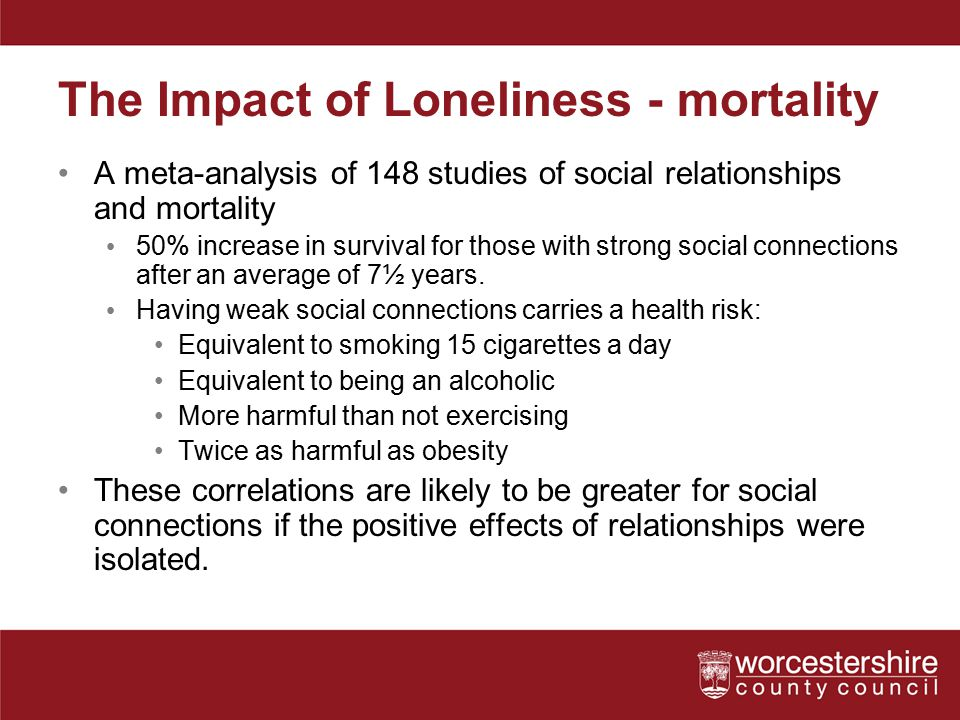 The Impact of Loneliness - mortality