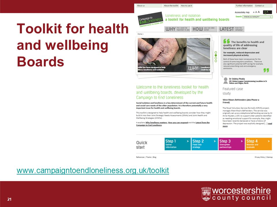 Toolkit for health and wellbeing Boards