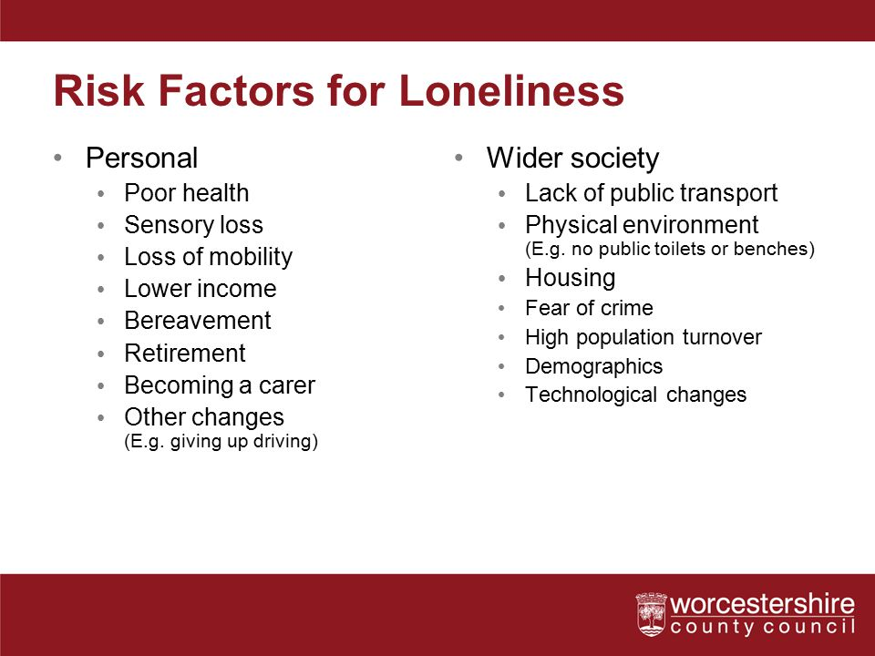 Risk Factors for Loneliness