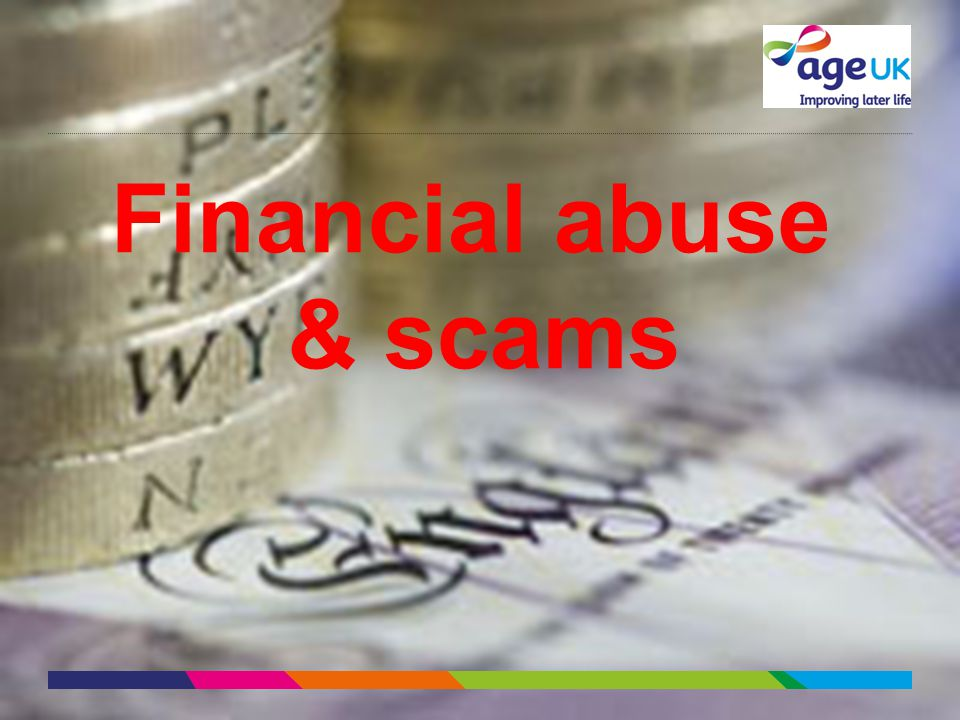 Financial abuse & scams