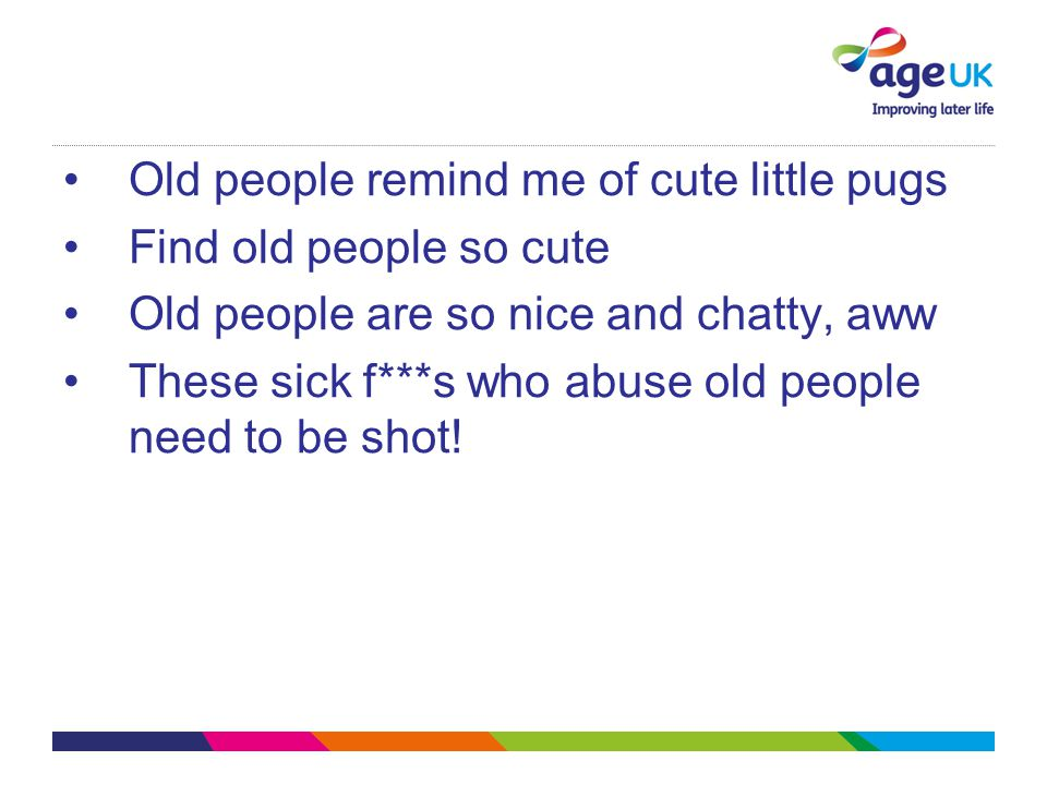 Old people remind me of cute little pugs
