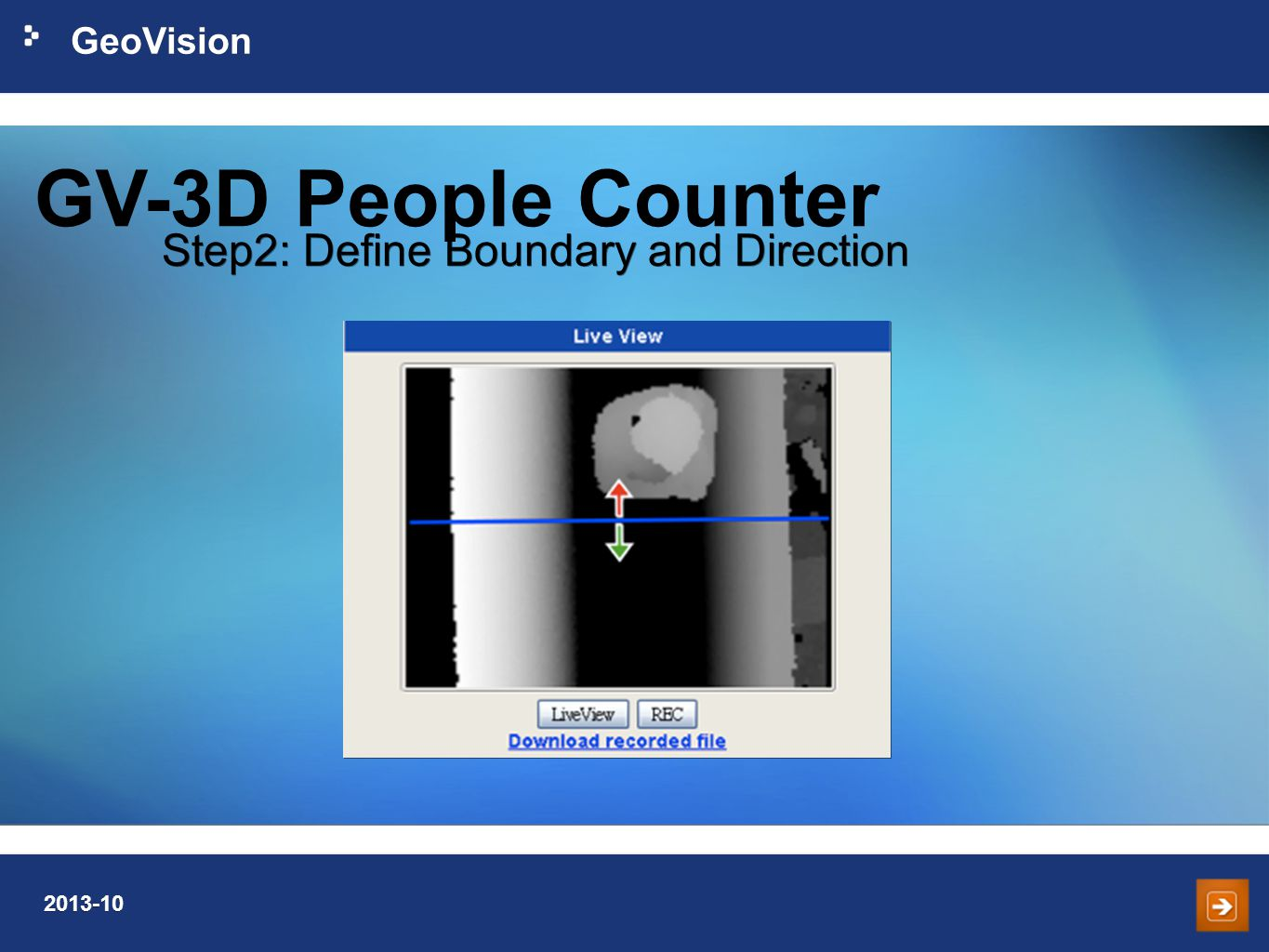 GV-3D People Counter Step2: Define Boundary and Direction