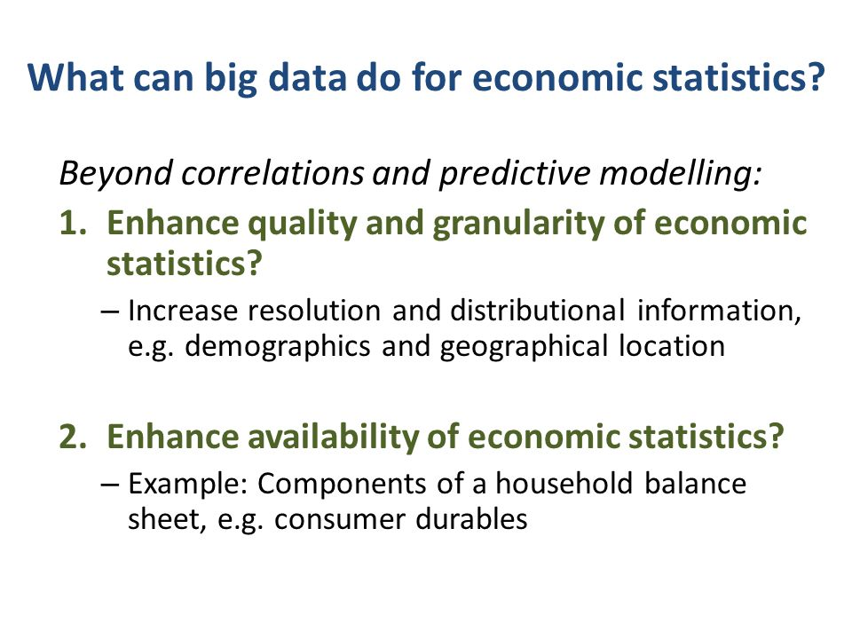 What can big data do for economic statistics