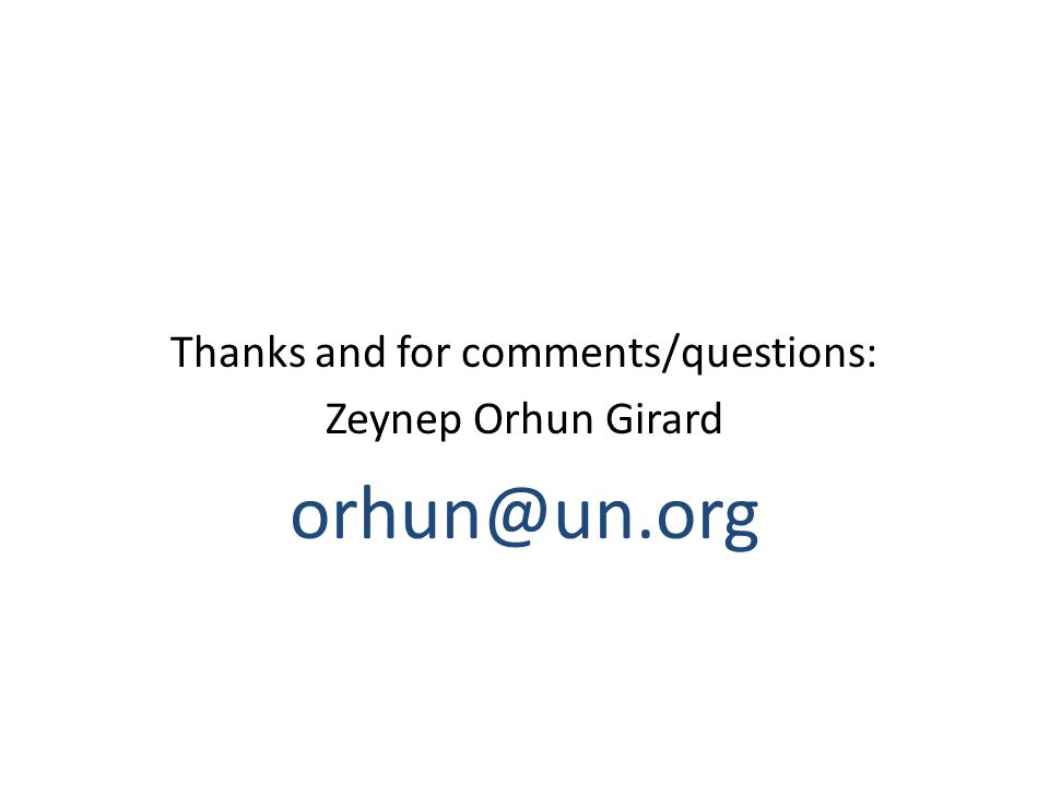 Thanks and for comments/questions: