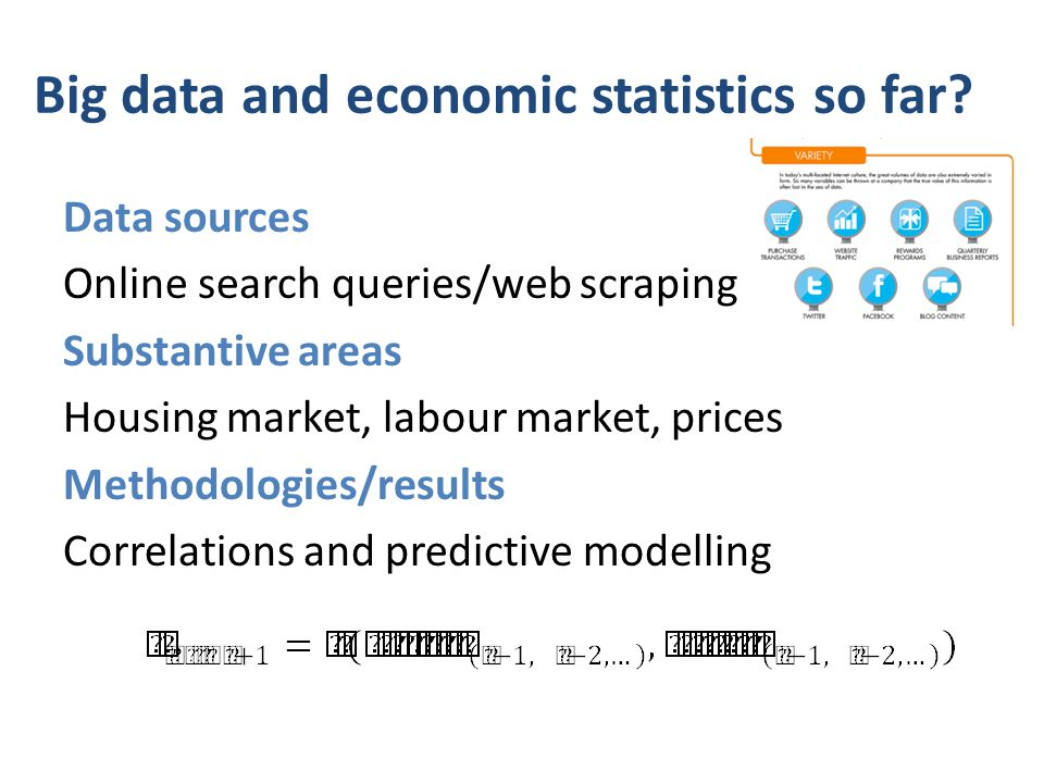 Big data and economic statistics so far