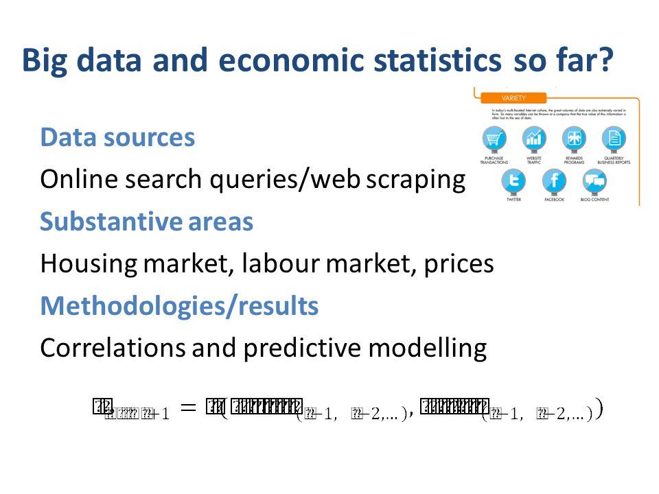 Big data and economic statistics so far