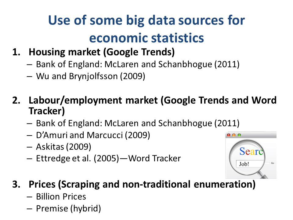 Use of some big data sources for economic statistics