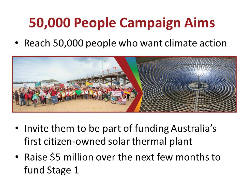 50,000 People Campaign Aims Reach 50,000 people who want climate action.