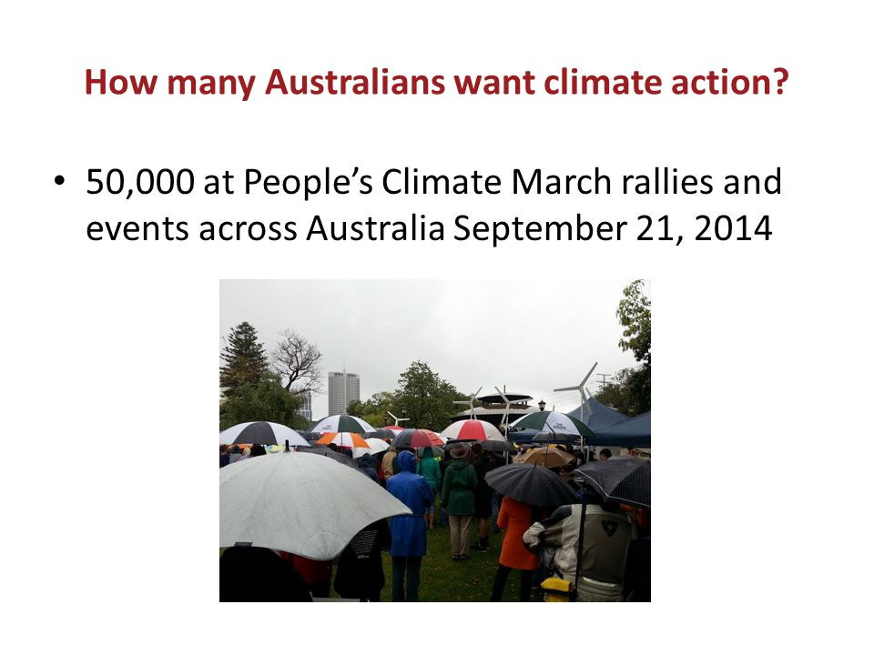 How many Australians want climate action