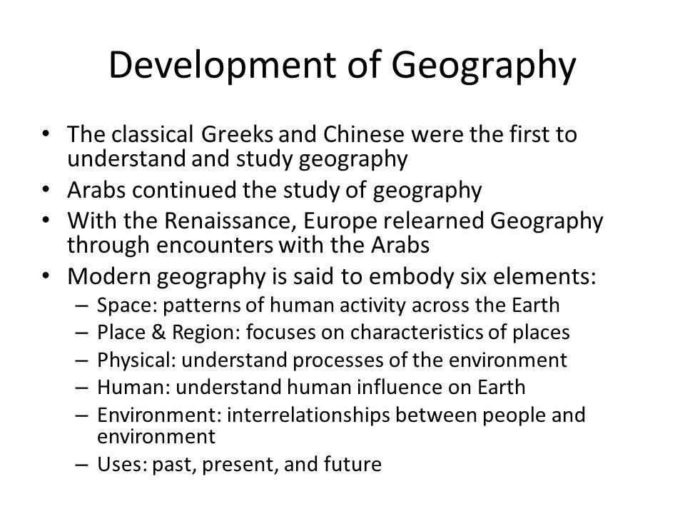 Development of Geography