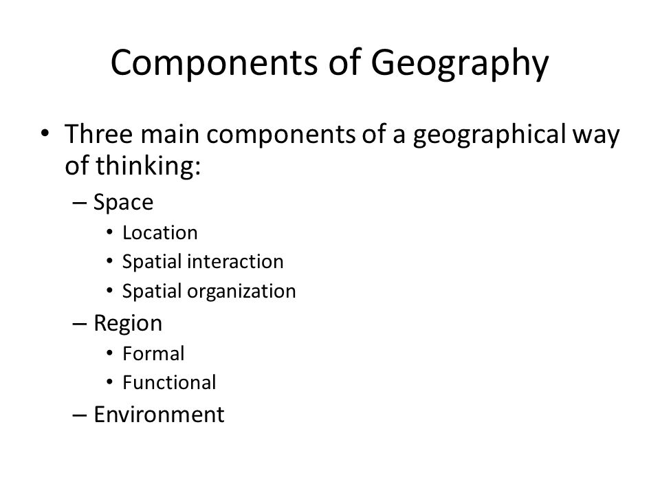 Components of Geography