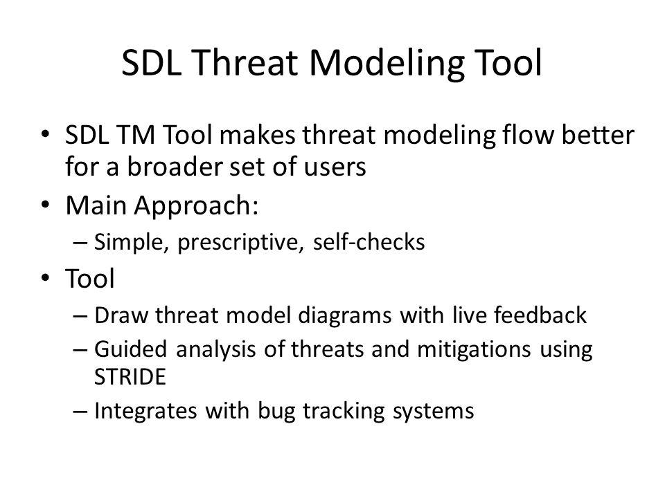 SDL Threat Modeling Tool