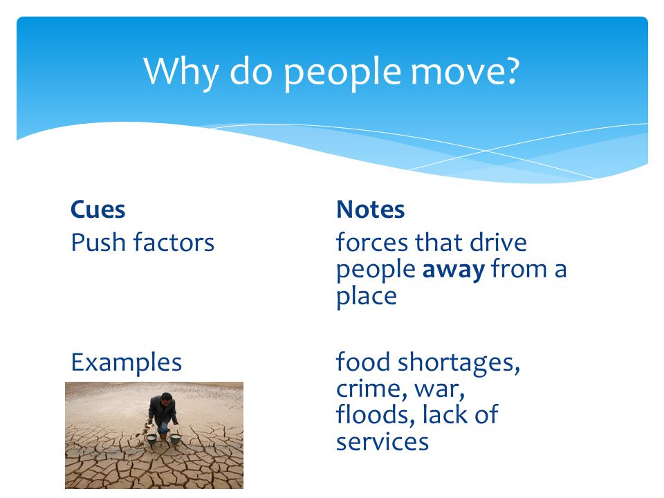 Why do people move.