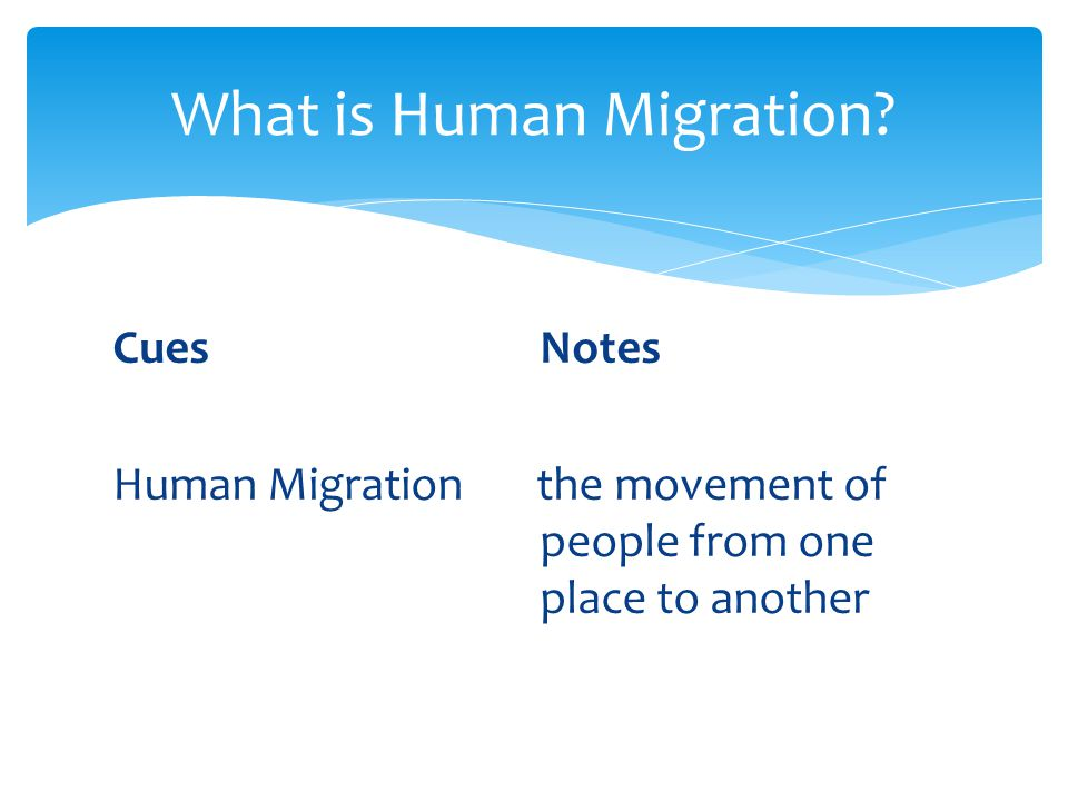 What is Human Migration