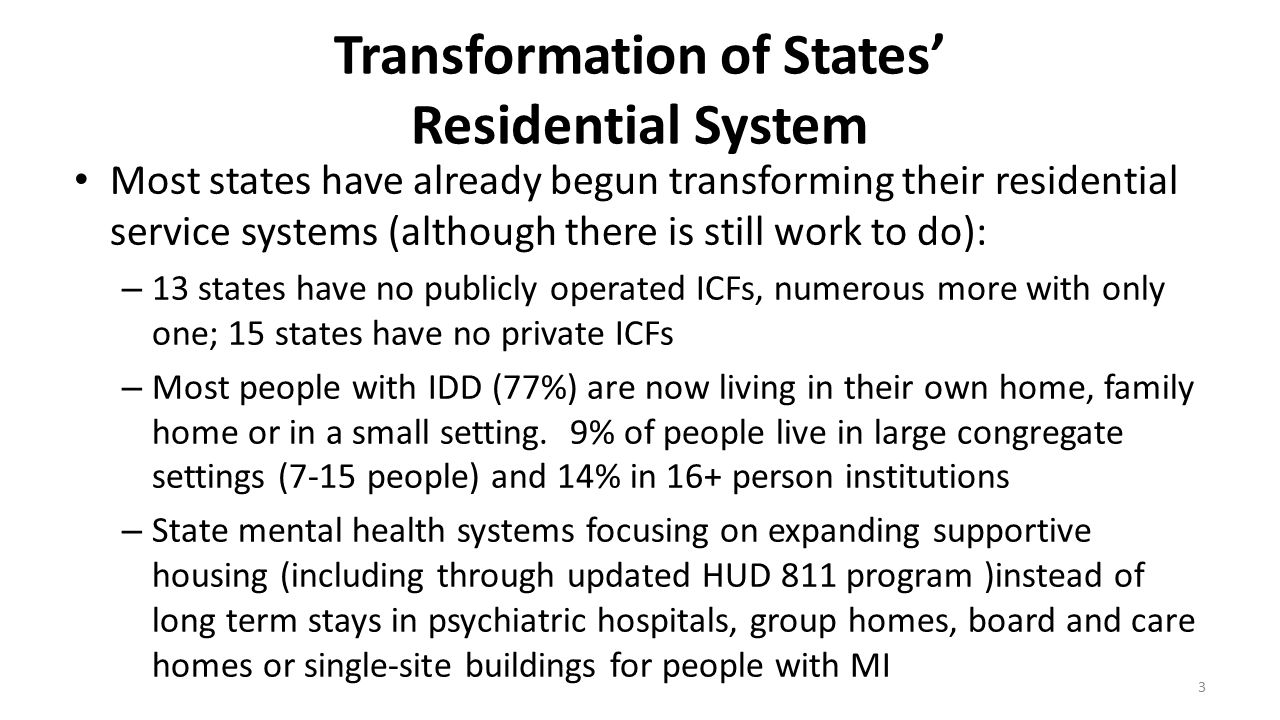 Transformation of States' Residential System