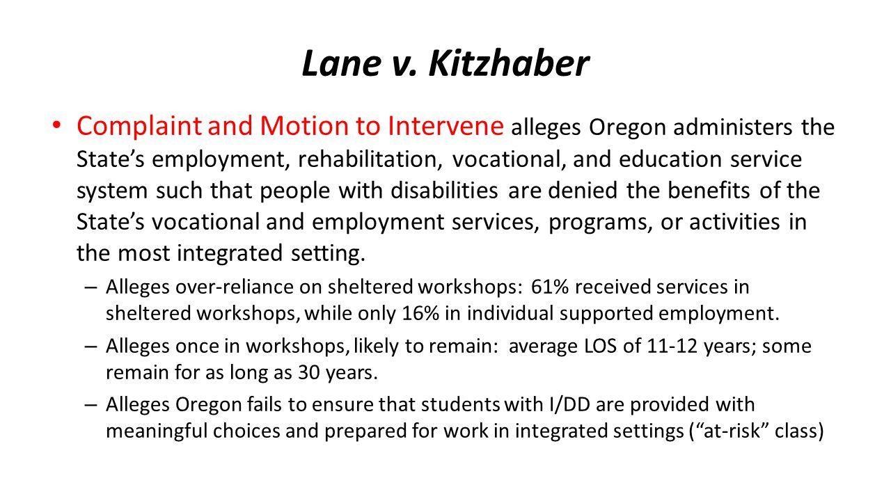 Lane v. Kitzhaber