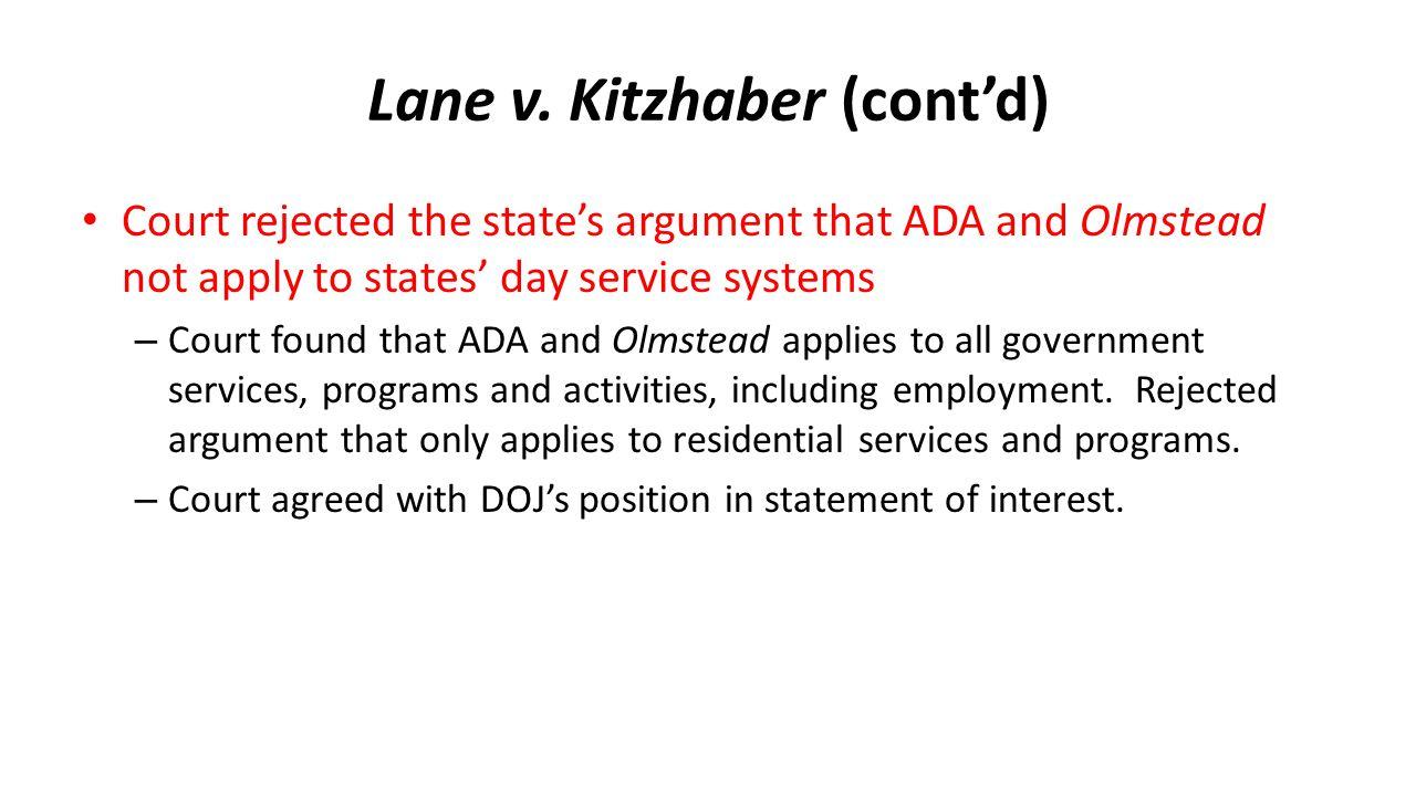 Lane v. Kitzhaber (cont'd)