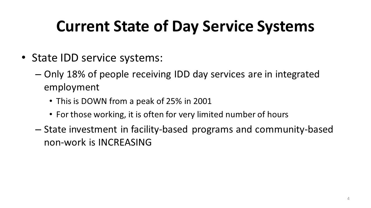 Current State of Day Service Systems