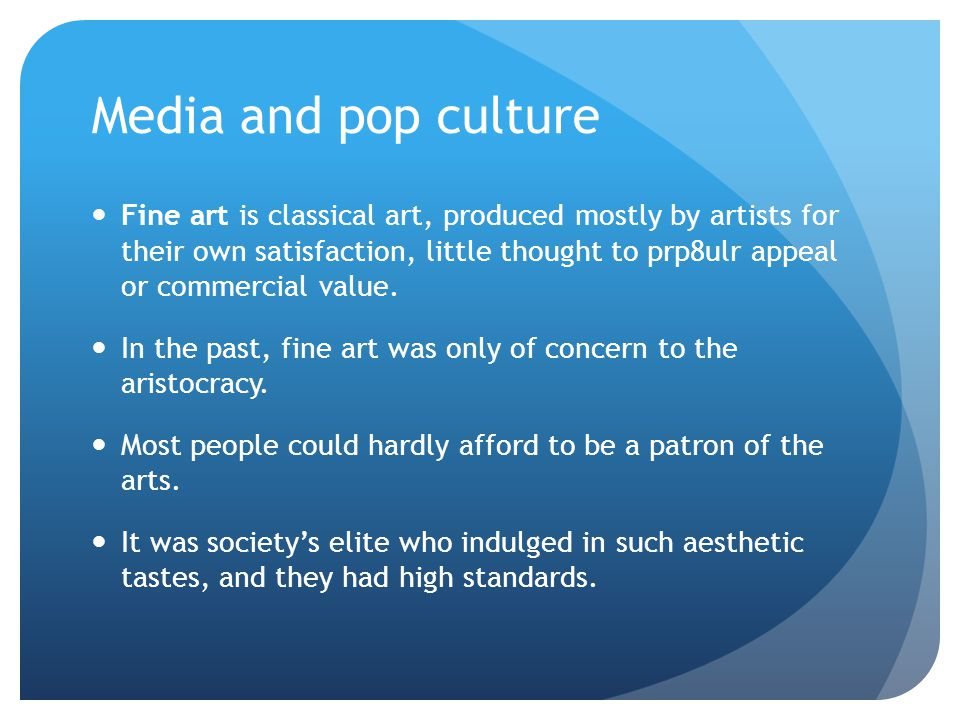 value of pop culture Since the pop-culture-is-good-for-you meme is still puzzling me, here's my follow-up, paraphrasing my note back to greg: i'm certainly in agreement regarding the rule-boundedness of art and creativity.