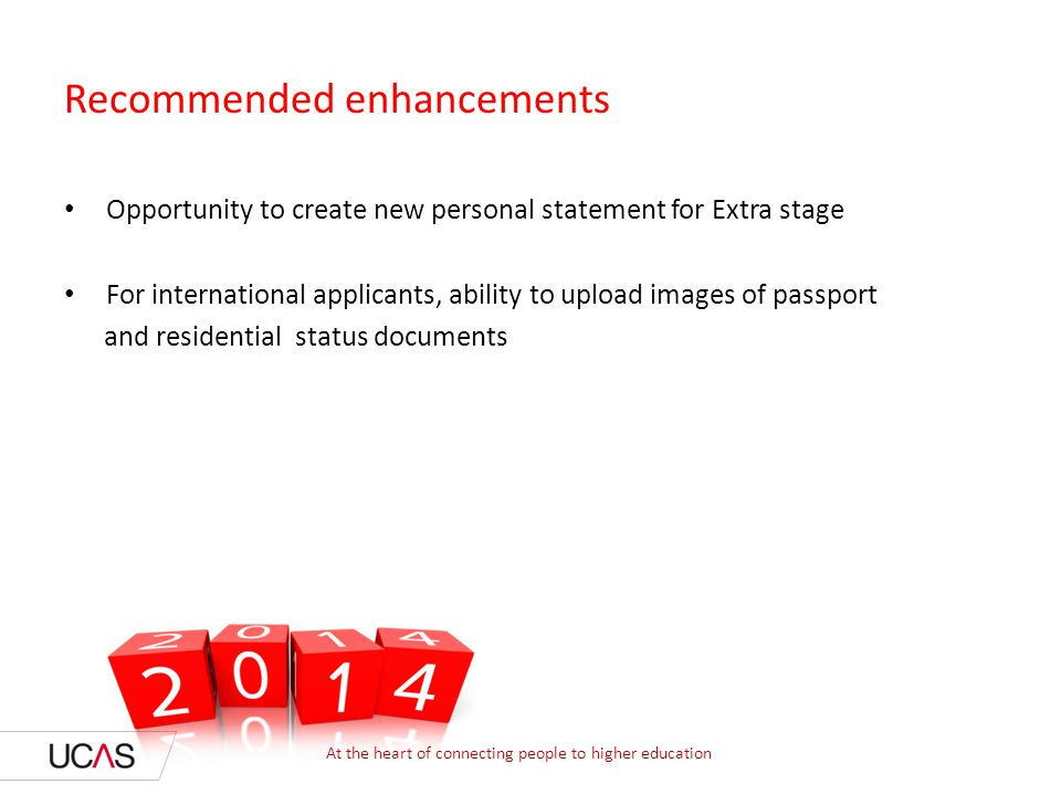 Recommended enhancements