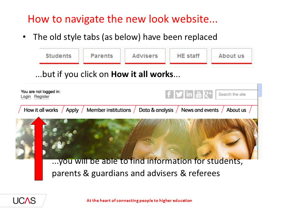 How to navigate the new look website...