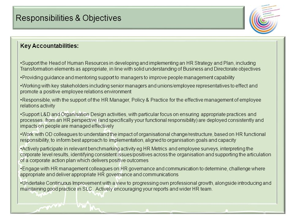 Responsibilities & Objectives