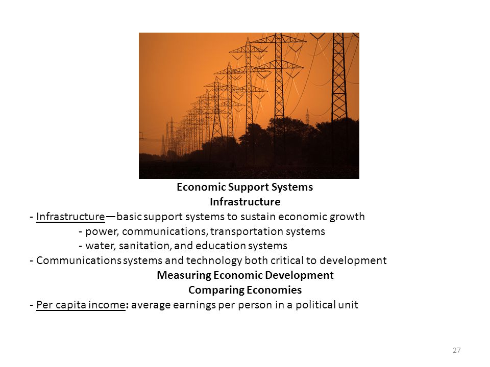 Economic Support Systems Infrastructure