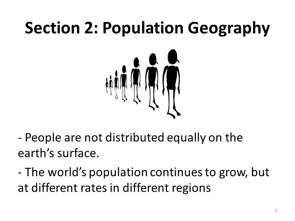 Section 2: Population Geography