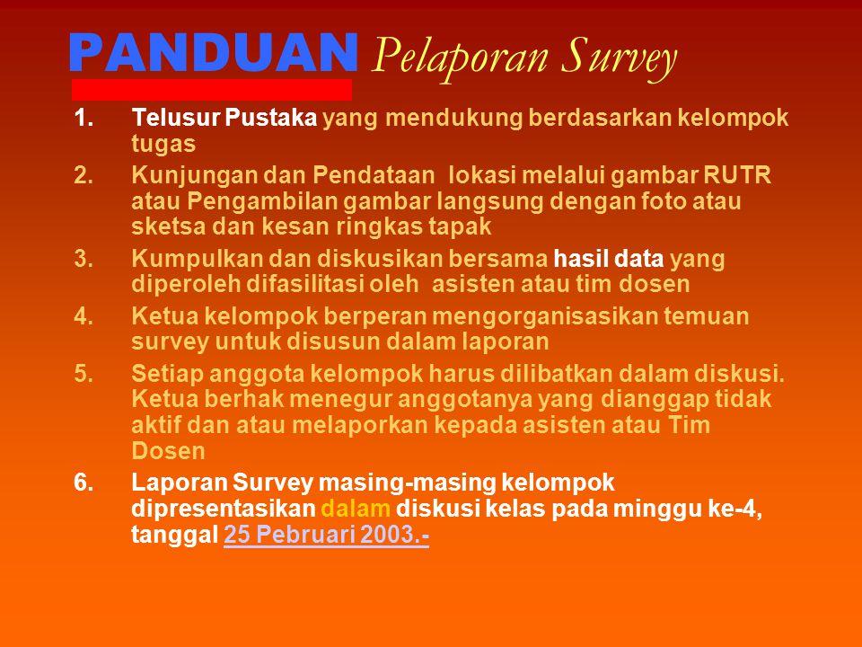 PANDUAN Pelaporan Survey