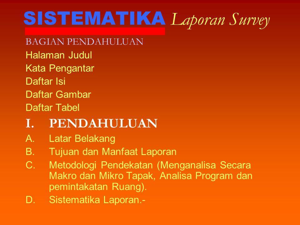 SISTEMATIKA Laporan Survey