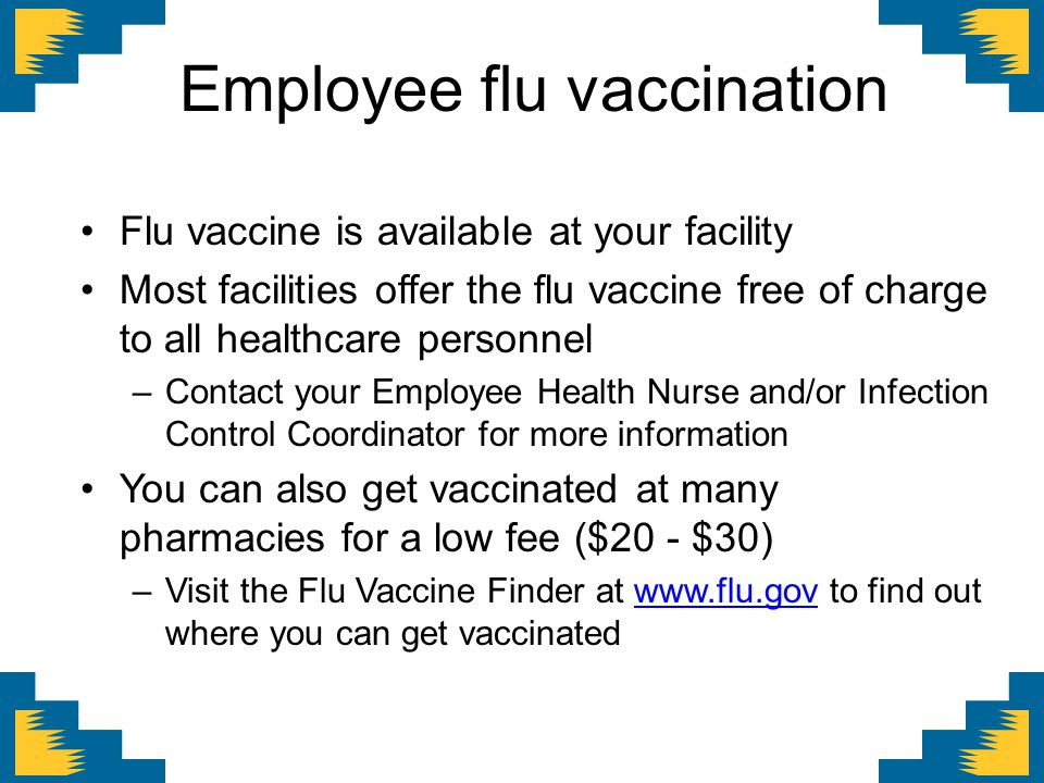 Employee flu vaccination