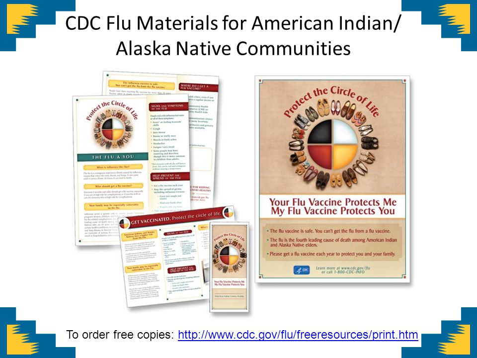 CDC Flu Materials for American Indian/ Alaska Native Communities