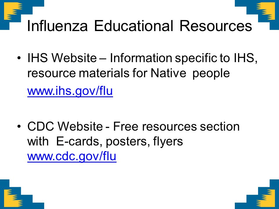 Influenza Educational Resources