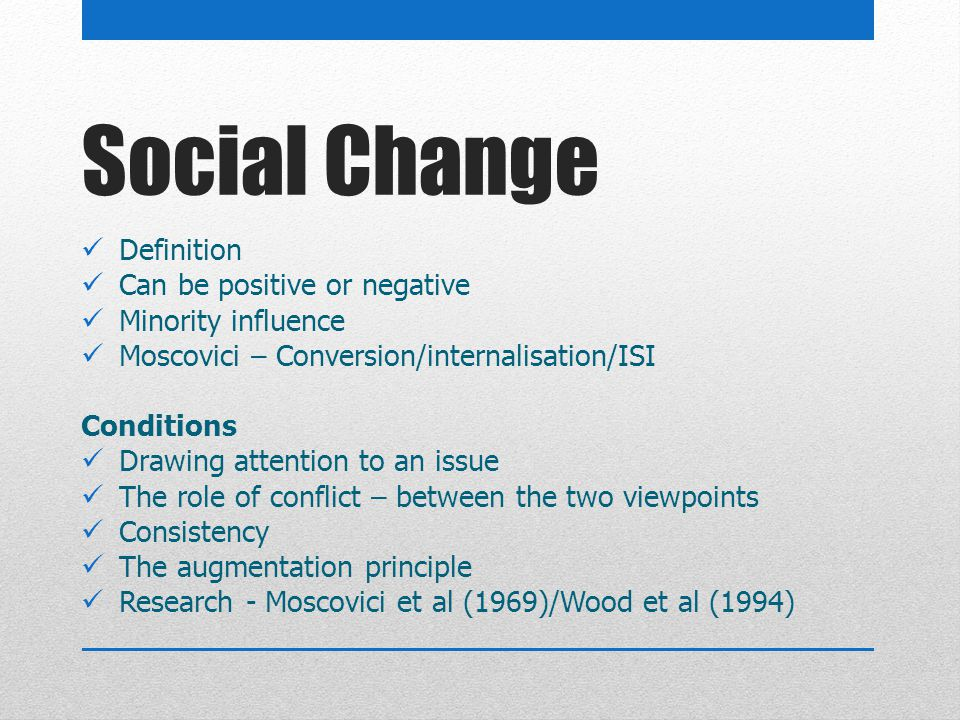 definition of social change pdf