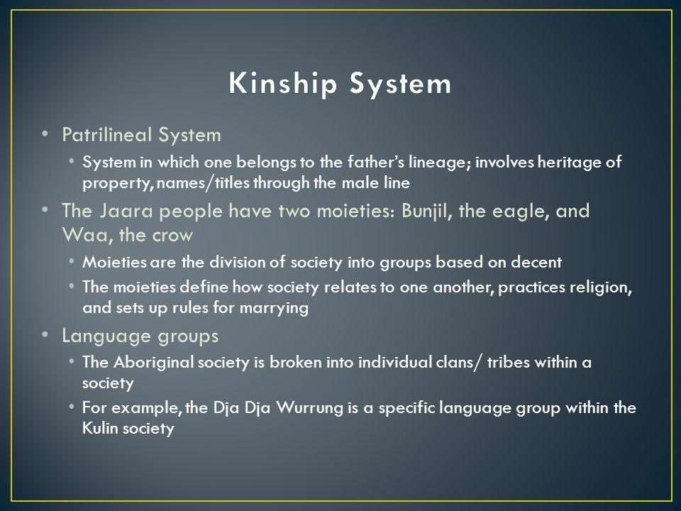 Kinship System Patrilineal System