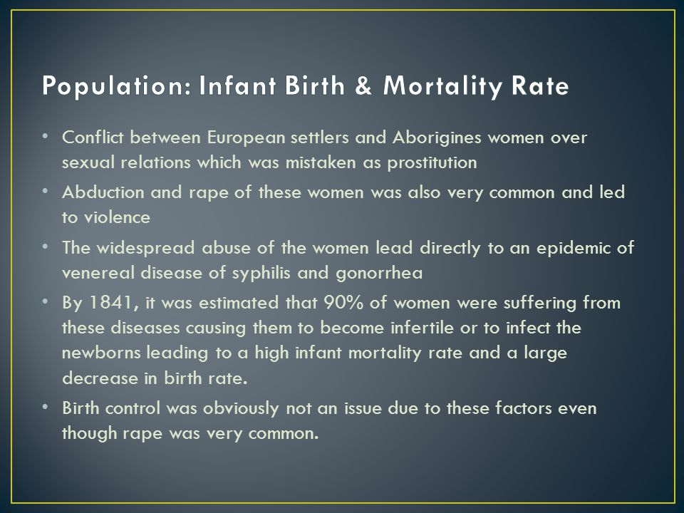 Population: Infant Birth & Mortality Rate