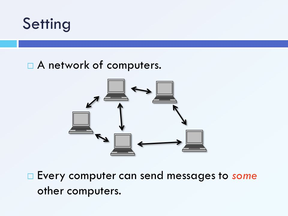Setting A network of computers.