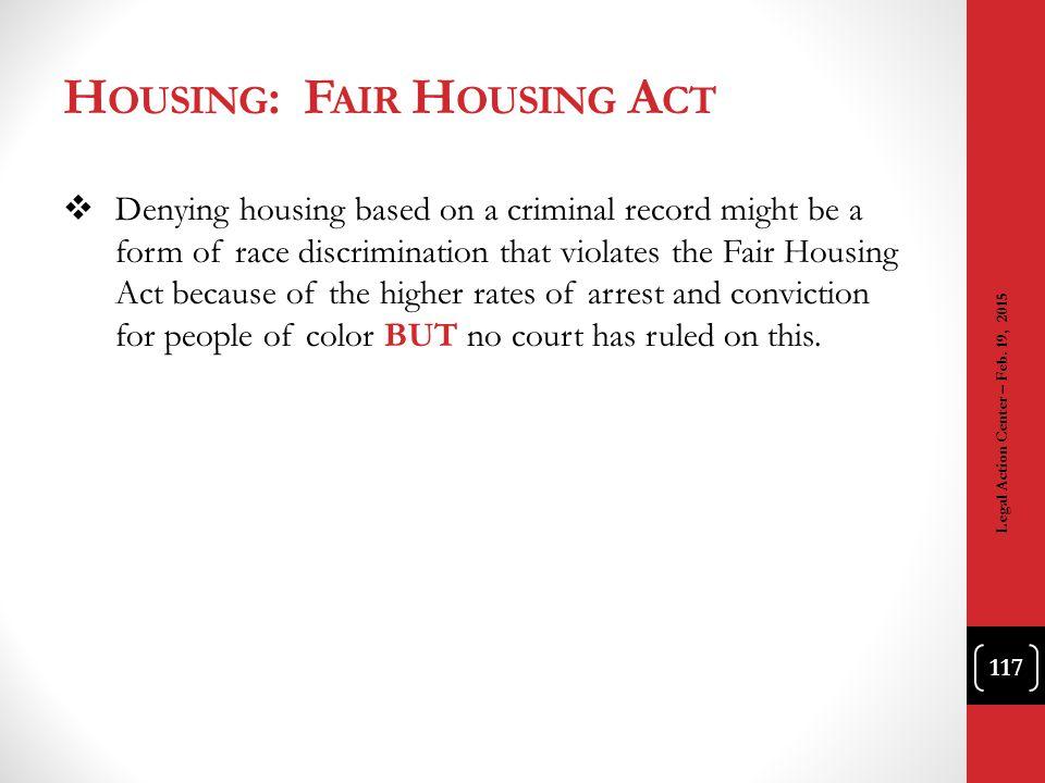 Housing: Fair Housing Act