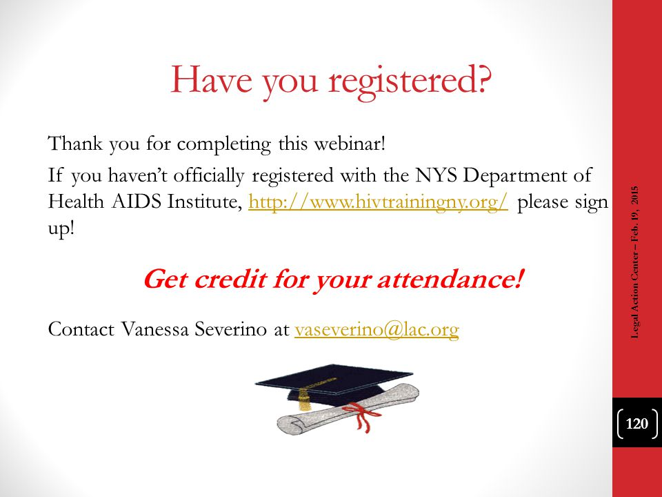 Get credit for your attendance!