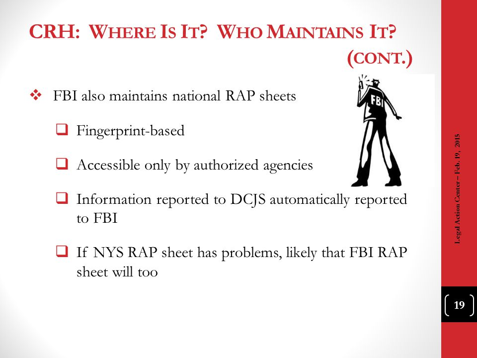 CRH: Where Is It Who Maintains It (cont.)