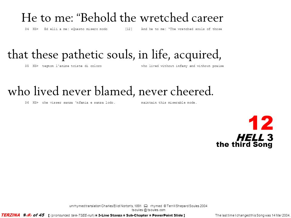 He to me: Behold the wretched career