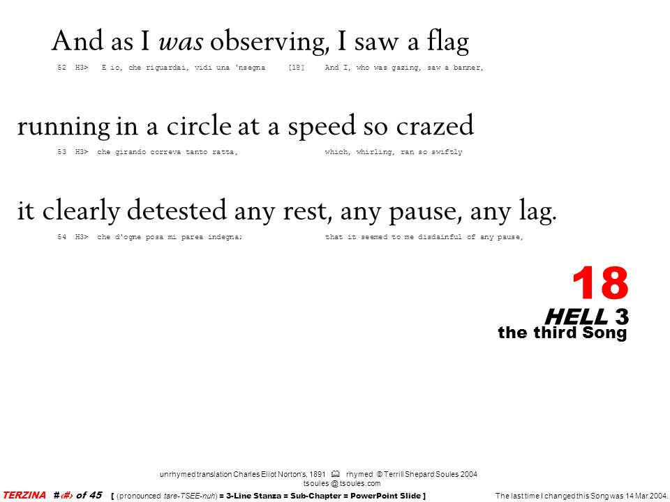 And as I was observing, I saw a flag