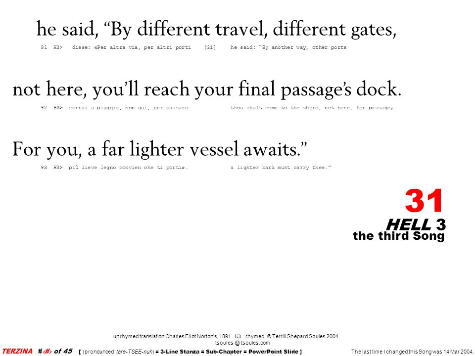 he said, By different travel, different gates,