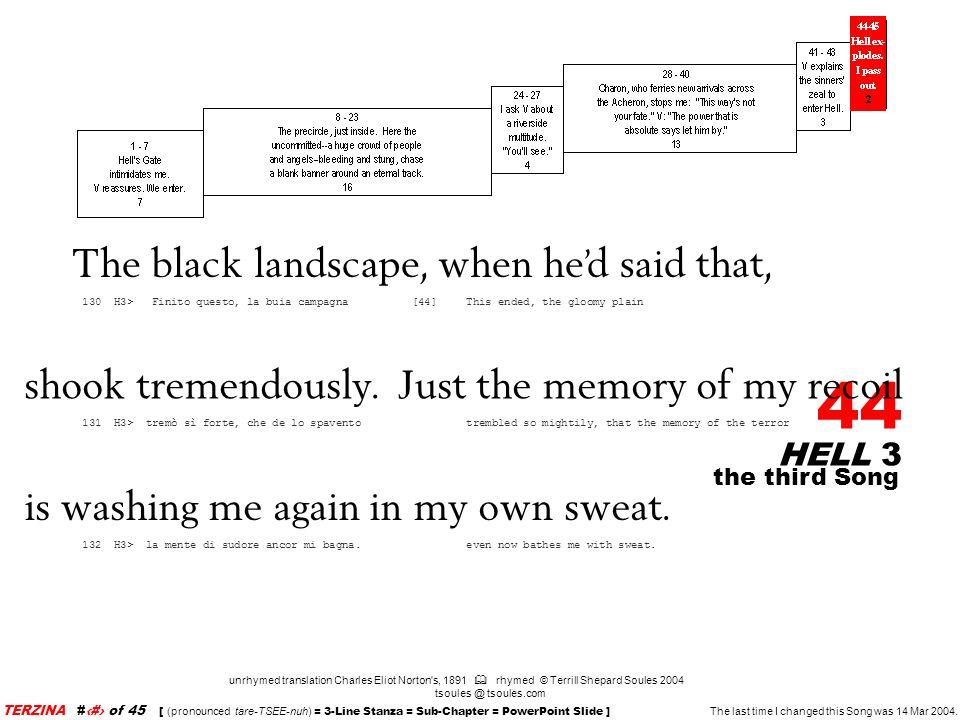 The black landscape, when he'd said that,