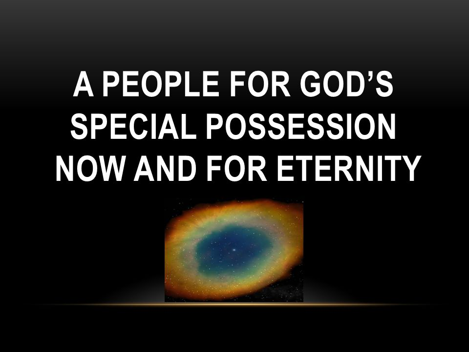 A people for God's special possession