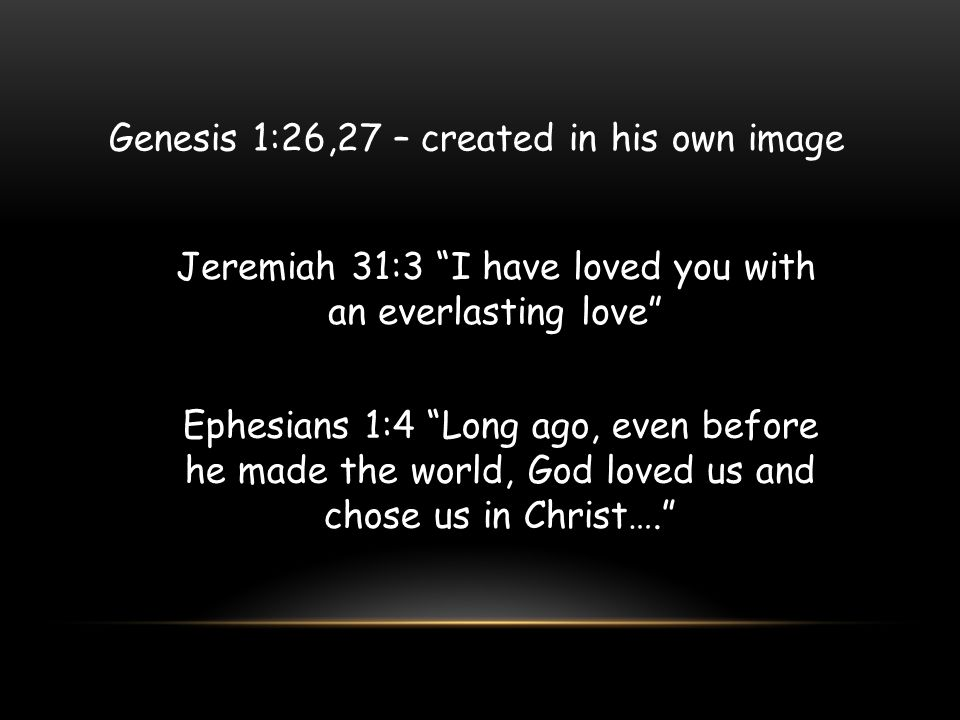 Genesis 1:26,27 – created in his own image